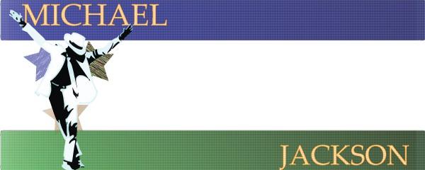 Michael Jackson The Star Design Medium Personalised Banner - 6ft x 2.25ft