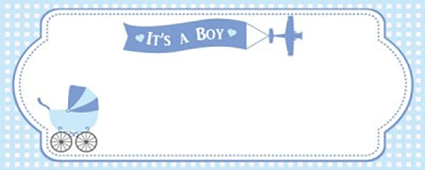 It's a Boy Special Delivery Medium Personalised Banner - 6ft x 2.25ft