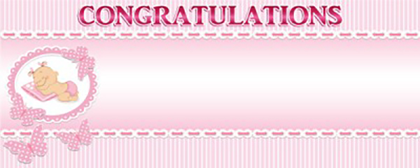 Congratulations Toys & Baby Things Medium Personalised Banner - 6ft x 2.25ft