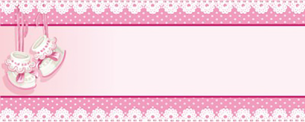 It's a Girl Heavens Gift Small Personalised Banner - 4ft x 2ft