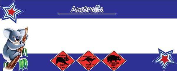 Australian Adventure Design Medium Personalised Banner - 6ft x 2.25ft