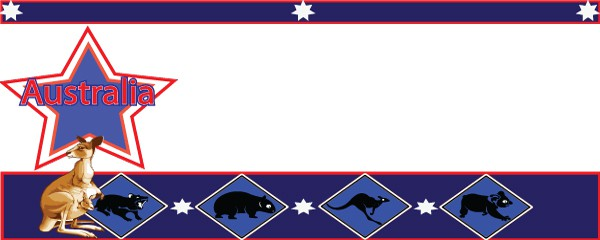 Australia Animal Kingdom Design Small Personalised Banner - 4ft x 2ft