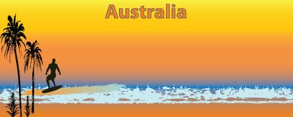 Australian Surfer Design Medium Personalised Banner - 6ft x 2.25ft