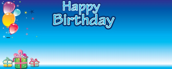 Birthday Boy Balloons Presents Personalised Banner | Partyrama