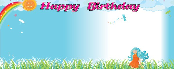general happy birthday personalised banners partyrama