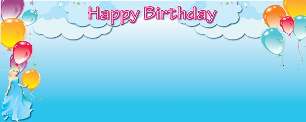 Happy Birthday Princess Dream Design Small Personalised Banner - 4ft x 2ft