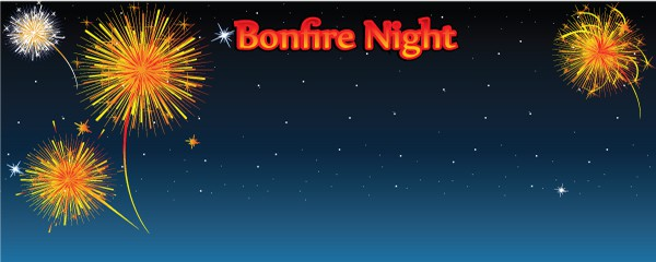 Tonight is Bonfire Night Design Small Personalised Banner - 4ft x 2ft