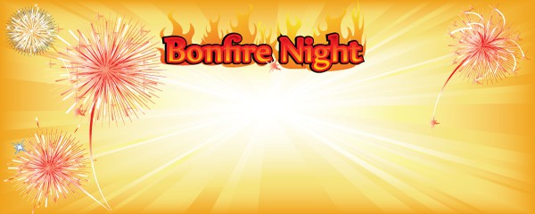 Bonfire Night Orange Explosion Design Small Personalised Banner - 4ft x 2ft