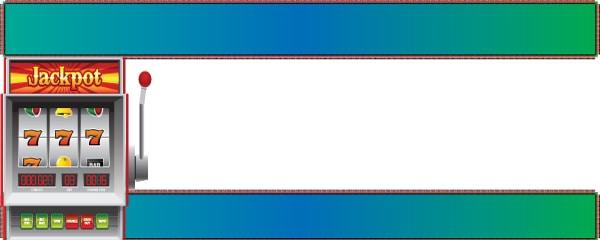 Jackpot Spin Design Medium Personalised Banner - 6ft x 2.25ft
