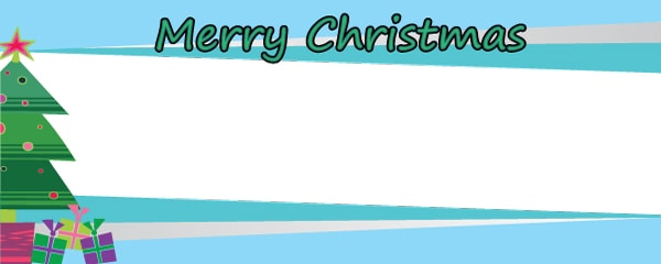 Merry Christmas Under The Tree Design Small Personalised Banner - 4ft x 2ft