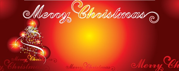 Merry Christmas Traditional Design Small Personalised Banner - 4ft x 2ft