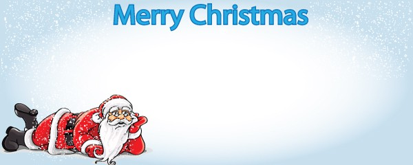 Merry Christmas From Santa Design Small Personalised Banner - 4ft x 2ft