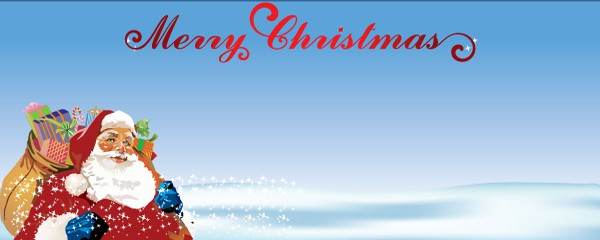 Santa Claus and Presents Design Small Personalised Banner - 4ft x 2ft