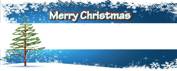 Christmas Tree Design Small Personalised Banner - 4ft x 2ft