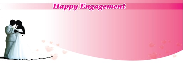 Happy Engagement to the Future Couple Design Medium Personalised Banner - 6ft x 2.25ft