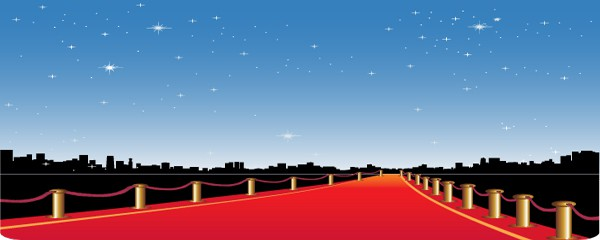Walk The Red Carpet Design Small Personalised Banner- 4ft x 2ft