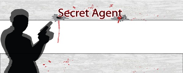 James Bond Secret Agent Design Small Personalised Banner- 4ft x 2ft