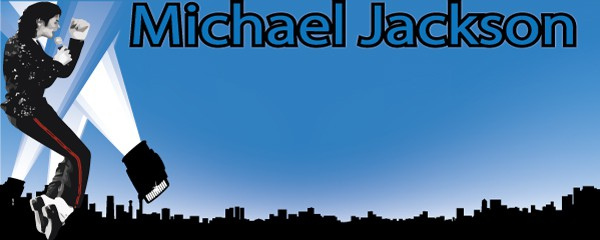 Michael Jackson Tribute Design Small Personalised Banner- 4ft x 2ft