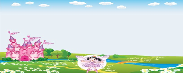 Princess Fairytale Design Large Personalised Banner - 10ft x 4ft