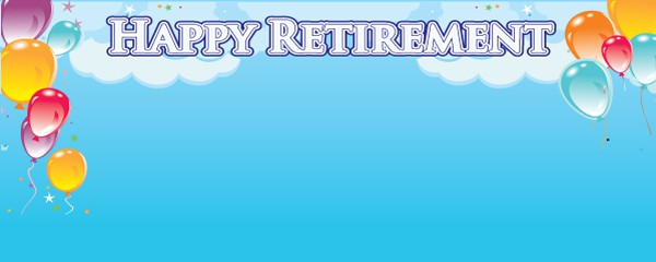 Enjoy Your Retirement Design Small Personalised Banner- 4ft x 2ft