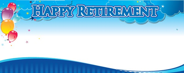 Happy Retirement Balloons Design Small Personalised Banner- 4ft x 2ft