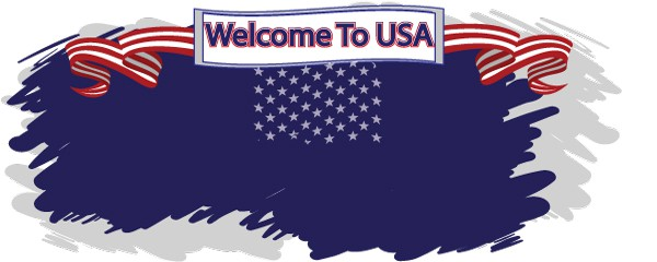 Welcome To USA Design Small Personalised Banner- 4ft x 2ft