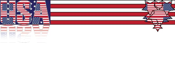 USA The Stars and Stripes Design Small Personalised Banner- 4ft x 2ft