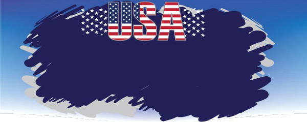 USA The Red, White and Blue Design Medium Personalised Banner - 6ft x 2.25ft