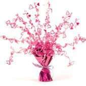 Pink Foil Heart Balloon Weight Centrepiece