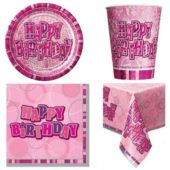 Pink Glitz 8 Person Party Pack