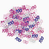 Pink Glitz 100th Birthday Table Confetti 14 Grams
