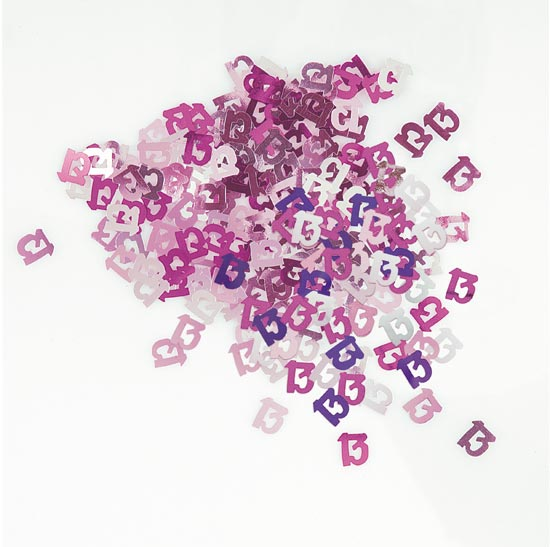 Pink Glitz 13th Birthday Table Confetti - 14 Grams Product Image