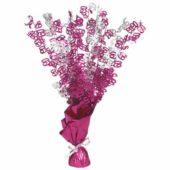 Pink Glitz 60th Birthday Balloon Weight Centrepiece