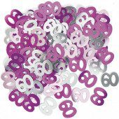 Pink Glitz 60th Birthday Table Confetti – 14 Grams