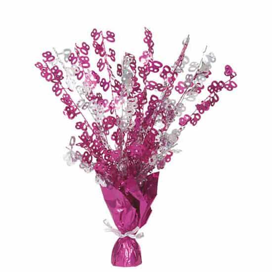 Pink-Glitz-Age-80-Balloon-Weight-Centerpiece-image