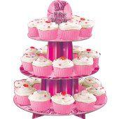 Pink Glitz 3 Tier Cupcake Stand