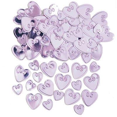 Pink Loving Hearts Table Confetti - 14 Grams