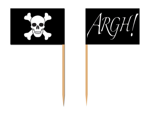 Pirate Flags Food Picks - Pack of 50