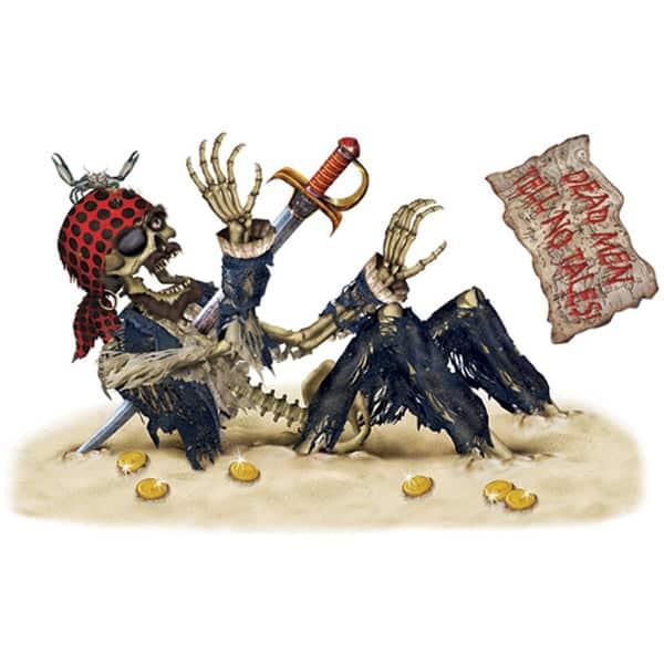 Pirate Skeleton Peel-N-Place Decoration