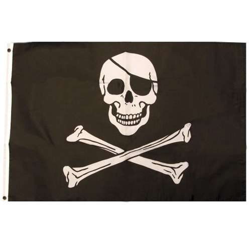 Pirate Skulls and Crossbones Flag | Partyrama.co.uk
