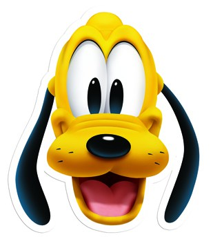 Disney Pluto Cardboard Face Mask