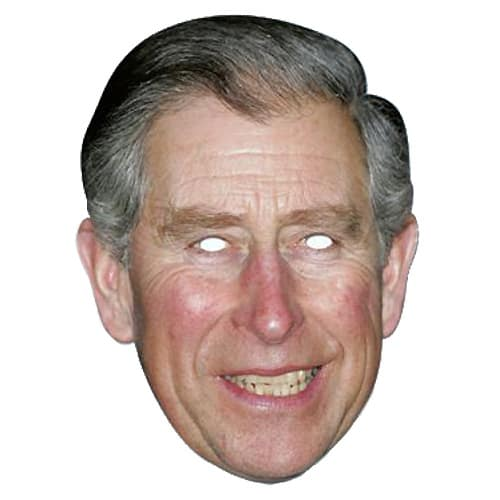 Prince Charles Cardboard Face Mask