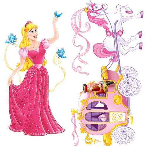 Princess and Carriage Backdrop Scene Setter Add-On