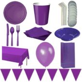 Purple 8 Person Deluxe Party Pack