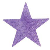 Purple Embossed Foil Star – 12 Inches / 30cm