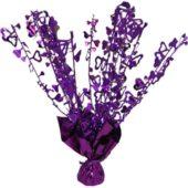 Purple Foil Heart Balloon Weight Centrepiece