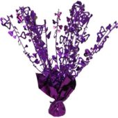 Purple Foil Heart Balloon Weight Centrepiece
