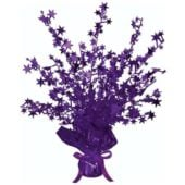 Purple Foil Star Balloon Weight Centrepiece – Pack of 10