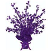 Purple Foil Star Balloon Weight Centrepiece