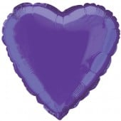 Purple Heart Shape Foil Balloon – 18 Inches / 46 cm